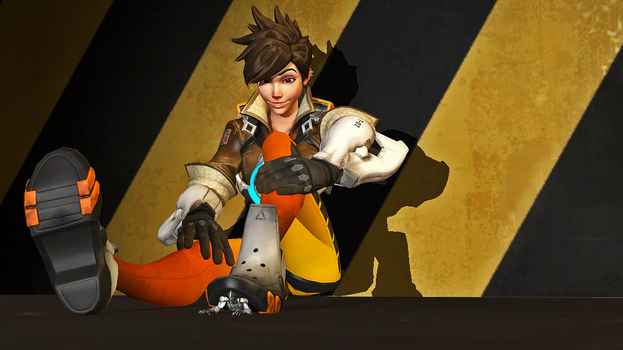 Tracer Crushes Genji by 3D-Giantess-Studios
