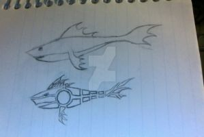 Design Idea with Shark by IcarusxR66Yx