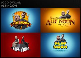 Alif Noon Logo Options by aliather