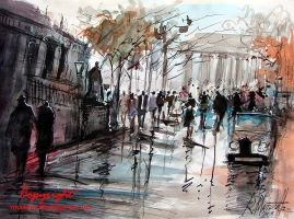 Paris in watercolour by ricardomassucatto