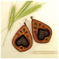 Folk earrings by PoppyLady