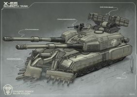 Mammoth Tank inspired concept by Sarqful