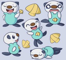 Oshawott Wallpaper by ChibiTigre