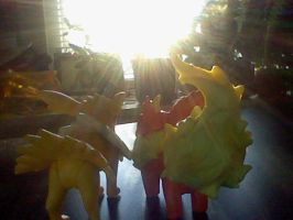 Flareon and Jolteon moment by victoriavaporeon