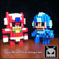 Zero and Megaman by VoxelPerlers