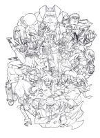 Street Fighter 3 Tribute WIP by marekage