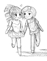 Holding Hands by per-chance