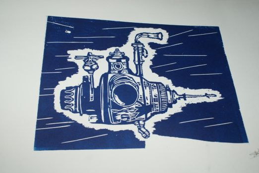 Submarine 2 - On paper by Katsmoka