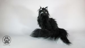 SOLD Yoru the night spirit fox poseable artdfoll. by CreaturesofNat