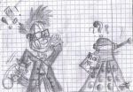 10th Doctor Who and Dalek by MadeInACME