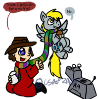 Derpy and the Fourth Doctor by Usagi-Zakura