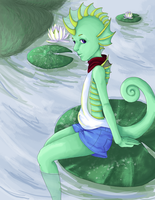 Phineas: Lily Pads Colored by Reigeckt