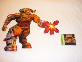 DOOM - The Cyberdemon -- Bead Sprite by monochrome-GS