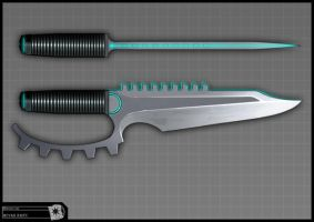 Concept for Riddick - knife by torvenius