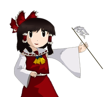 Reimu Hakurei by killerplatypus