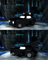 Batmobile Model by Two-in-the-Belfry