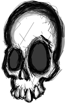 another scribble skull by LillithLaviathan