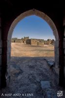 Azraq Castle: Mosque in the courtyard by Mgsblade