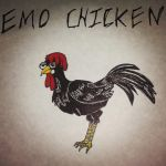Emo Chicken by panther2010