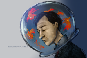 Mycroft - Living in a World Of Goldfish. by ilcielocapovolto