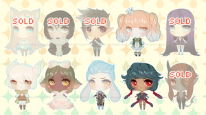 [OPEN] $10/1200pt Chibi Adopts by Valkymie