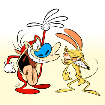 Looks like Ren and Stimpy by Themrock