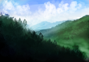 Mountains Speed Paint by Stalcry