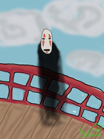 No Face-Spirited Away- by WolfxTracks