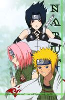 Naruto Team Seven by aquamist