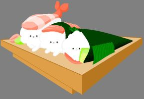 Pomeranian - Sushi by alice-addict