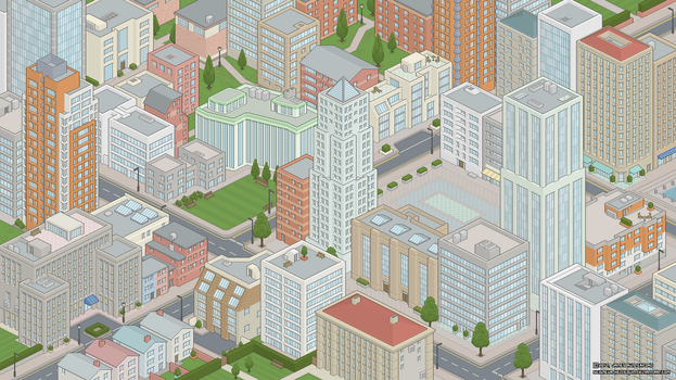 New/Old Pixel City by Seigneur-Hellequin