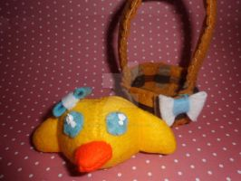 Easter Chick and basket ^.^ by Mandy-Lou-Plushies