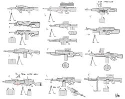 AFF-Machineguns concepts by MeganeRid