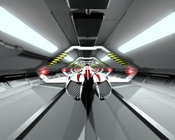 Kamikaze in the launch tunnel by alchem