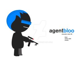 Agent Bloo Flash Character by msstenq