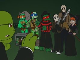 TMNT - Halloween at Camp Crystal Lake by MetaLatias5