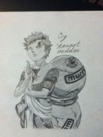 My second drawing of Gaara from Naruto by captonstu
