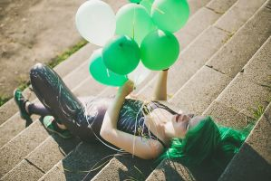 Green balloons by Art-Of