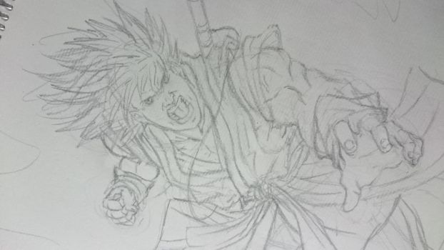 WIP - Concept art remake - Son Goku by Aethereo