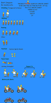 Bart Simpson Sprite Sheet 2 by bandicoota