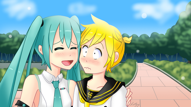 Contest Entry - Miku x Len by Infogirl101