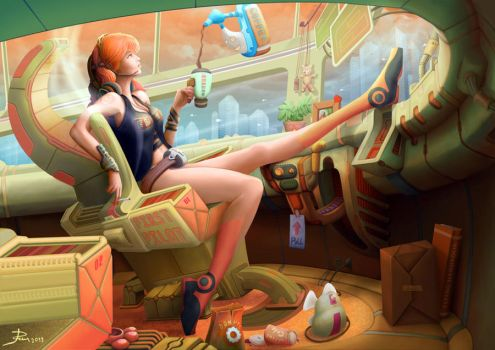 Another day at the office by Telmand