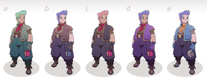 Ro Character Design Colour Studies by Sycra