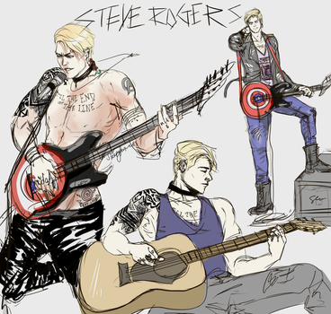 Steve Rogers - Will Play for Freedom by sleepyfortress