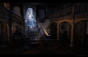 Dark Remnants | Manor Foyer Concept by ExpeditionEndurance