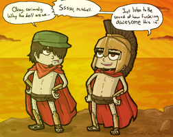 Manly Spartans. by Jackarais