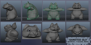 Hamster Guy WIP in Maya by Konnestra