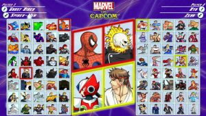 Marvel vs Capcom fan roster by MrJechgo