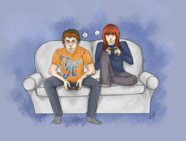 Michael and Lindsay JONES by Obake-no-Kage