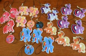 MLP:FiM Charms by MintyStitch